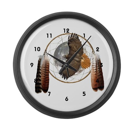 Spirit Hawk Large Wall Clock