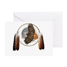 Spirit Hawk Greeting Card