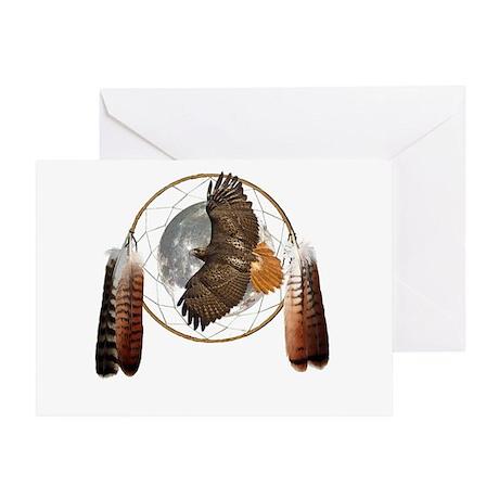 Spirit Hawk Greeting Card