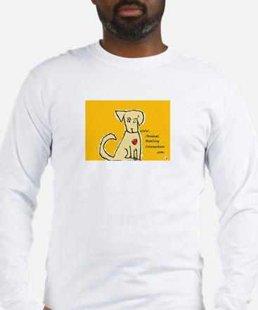 AnimalHealingConnection White Cat Long Sleeve T-Sh