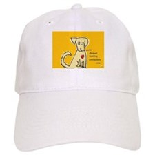 AnimalHealingConnection White Cat Baseball Cap