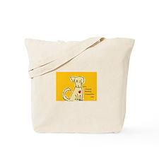 AnimalHealingConnection White Cat Tote Bag