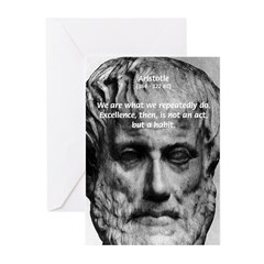 Greek Philosophy: Aristotle Greeting Cards (Packag