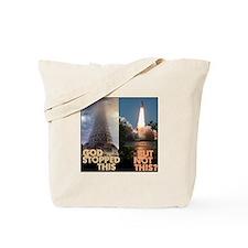 Atheist Tower of Babel NASA Tote Bag