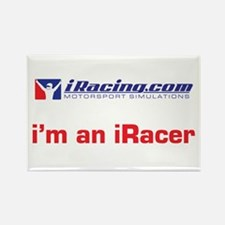 """""""i'm an iRacer"""" Rectangle Magnet"""