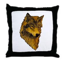 Spirit Wolf Throw Pillow