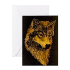 Spirit Wolf Greeting Card