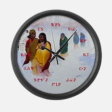 Cherokee Trail of Tears Large Wall Clock