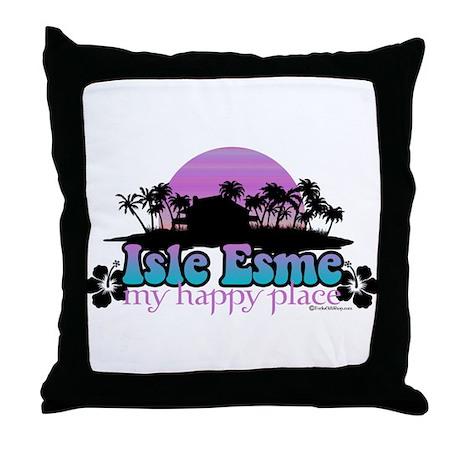 Isle Esme - My Happy Place Throw Pillow