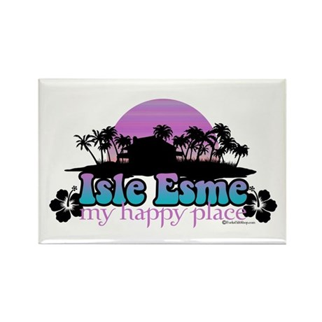 Isle Esme - My Happy Place Rectangle Magnet