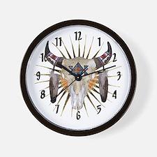 Southwest Buffalo Star Wall Clock