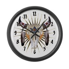 Southwest Buffalo Star Large Wall Clock
