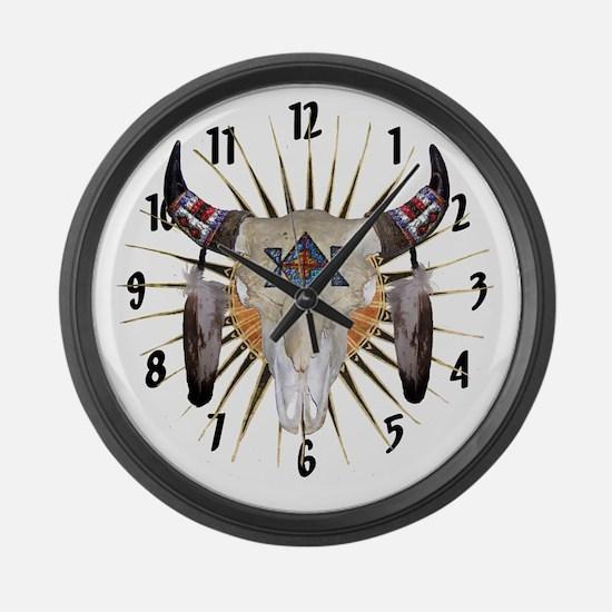 Southwest Buffalo Star Large Wall Clock