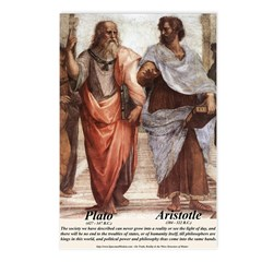 Plato Aristotle Philosophy Postcards (Package of 8