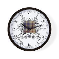 MacRae Tartan Shield Wall Clock