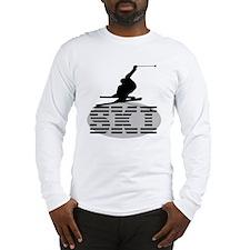 Silhouette Ski Long Sleeve T-Shirt