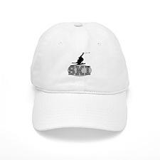 Silhouette Ski Baseball Cap