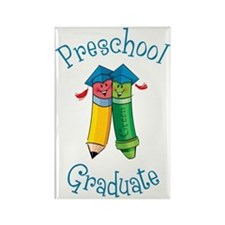 Cute Preschool grad Rectangle Magnet