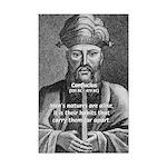 Confucius Quotes: Nature & Habits of Man Print