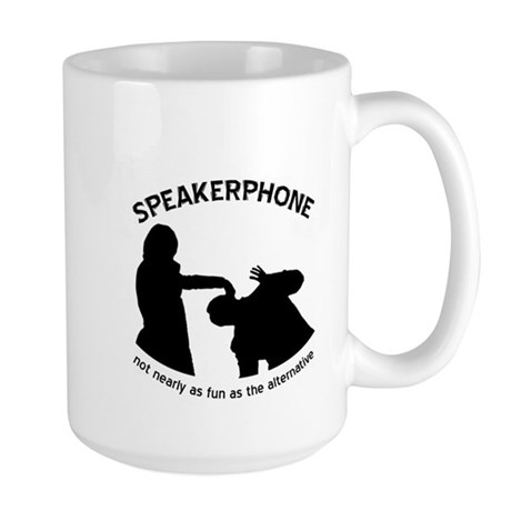 """Speakerphone"" Large Mug"