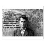 Ludwig Wittgenstein: Words & Language Small Poster