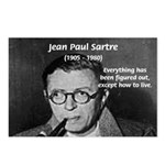 Existentialist Jean-Paul Sartre Postcards (Package