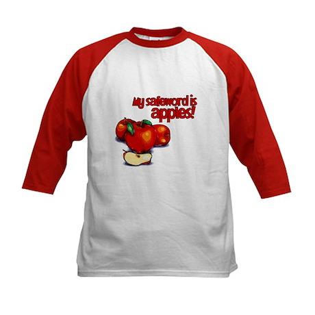 """My Safeword is Apples"" Kids Baseball Jersey"