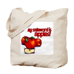 """My Safeword is Apples"" Tote Bag"