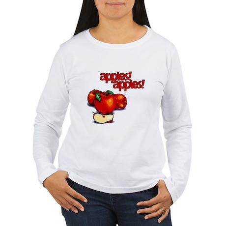 """Apples! Apples!"" Women's Long Sleeve T-Shirt"