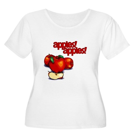 """Apples! Apples!"" Women's Plus Size Scoop Neck T-S"