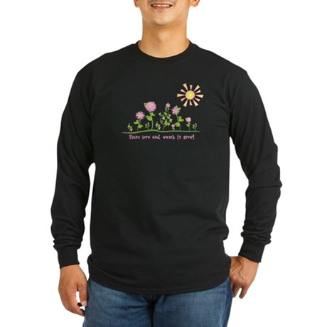 Plant love and watch it grow! Long Sleeve Dark T-S