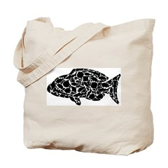 Fish Collage (black) by Morgan Smith Tote Bag