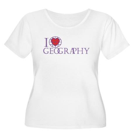 I Love Geography Women's Plus Size Scoop Neck Tee