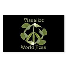 VISUALIZE WORLD PEAS Rectangle Decal