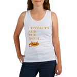 contacts are the devil Women's Tank Top