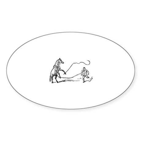 Lunging Oval Sticker