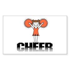 Orange Cheerleading Rectangle Decal