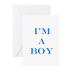 I'm a Boy Greeting Cards (Pk of 20)