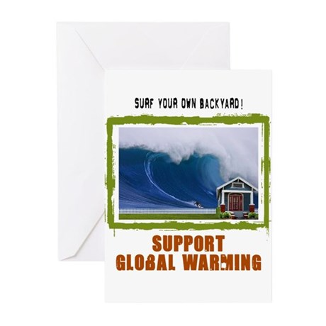 Surf Your Own Backyard Greeting Cards (Pk of 20)