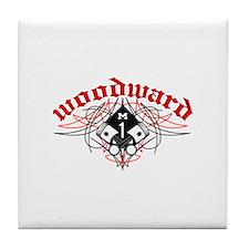 Woodward Pistons Pinstripe Tile Coaster