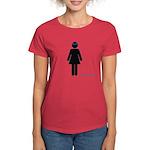 girl in glasses Women's Dark T-Shirt