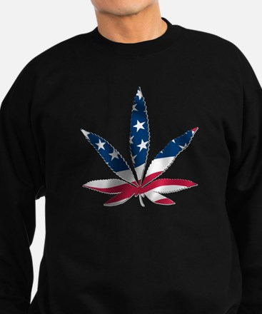 PATRIOTIC WEED Sweatshirt (dark)