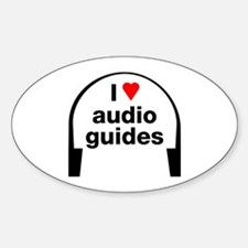I Love Audio Guides Oval Decal