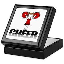 Red Cheerleading Keepsake Box