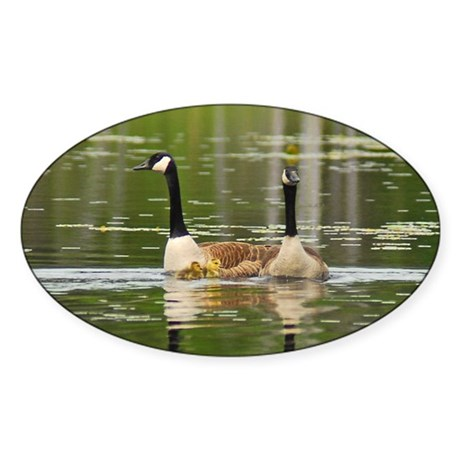 Goose Family Oval Sticker