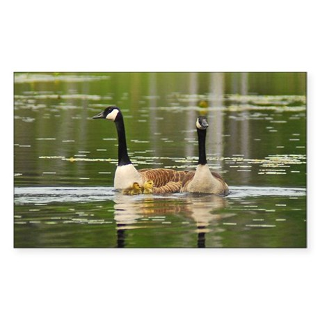 Goose Family Rectangle Sticker
