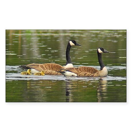 Goose Family Rectangle Sticker