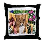 Basenji Art Throw Pillow