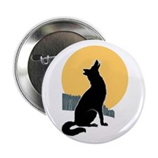 "Howling Wolf 2.25"" Button"