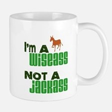 """Wiseass, Not Jackass"" Mug"